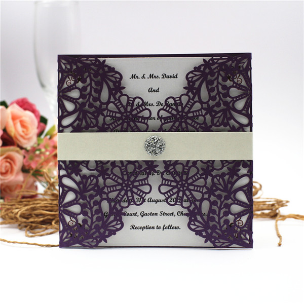 2018 Snowflake Design Navy Blue Hollow Out Wedding Invitations Cards Customizable Invitation With Blank Inner Sheet By Ups Nz 2019 From Cryastal Nz