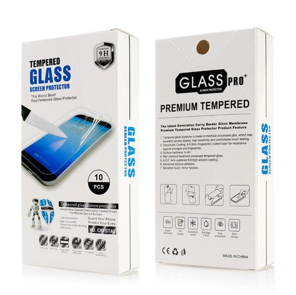 Gehärtetes glas für lg k40 für motorola moto e6 steigern g7 plus g7 spielen revvlry + g7 power screen film mit kleinverpackung a