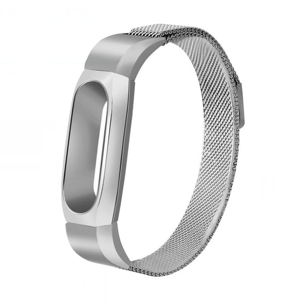 Wholesale- Metal Strap For Xiaomi Mi Band 2 Screwless Stainless Steel Bracelet For MiBand 2 Wristbands Smart Replacement Accessories