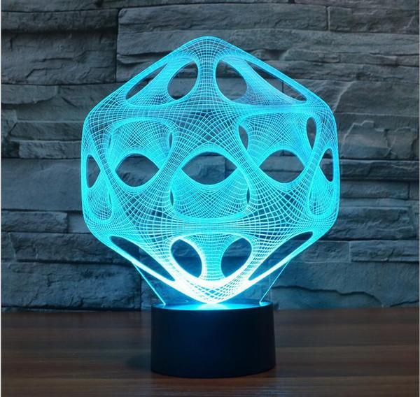 Toptan-Soyut Gece lambası lav lambası 3D luminaria LED Lamba Işık USB Renkli Düğün Deco için Yenilikçi Noel Hediyesi Mevcut