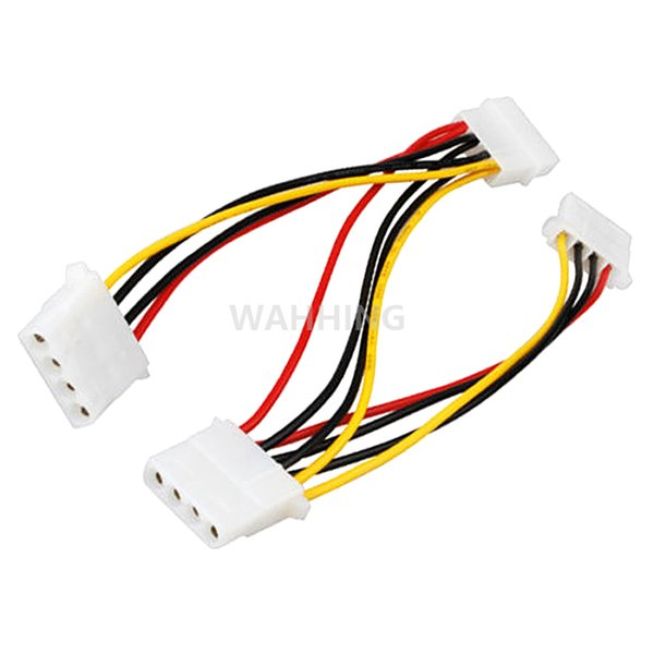 Wholesale- 4 Pin Molex Male to 3 port 4Pin Molex IDE Female Power Supply Splitter Adapter Cable Computer Power Cable Connector HY1264