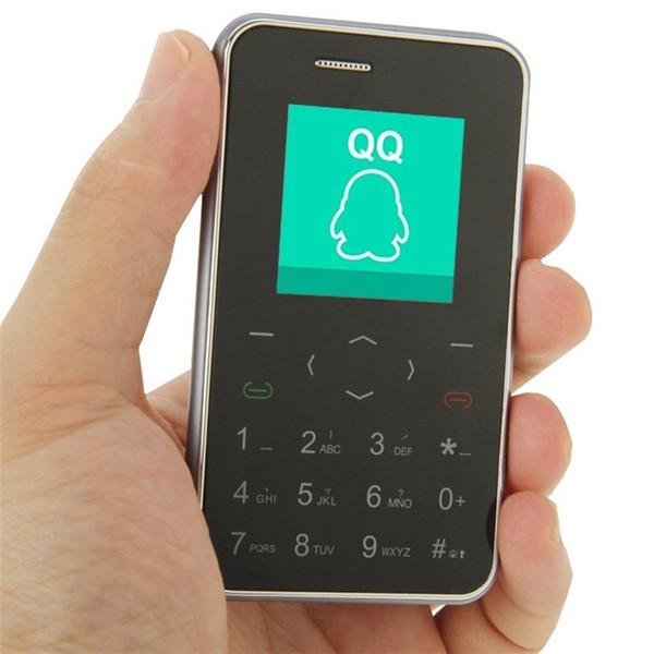 100% Original AEKU i6 Telefone Telefone 1.54 polegada Ultrathin Único SIM Teclado Touch Screen Captura Remota de Baixa Radiação Telefone Móvel