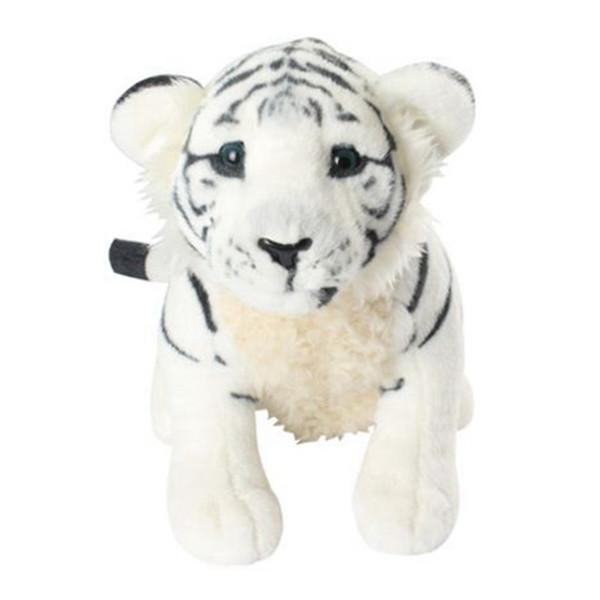 45cm Squatting White Tiger