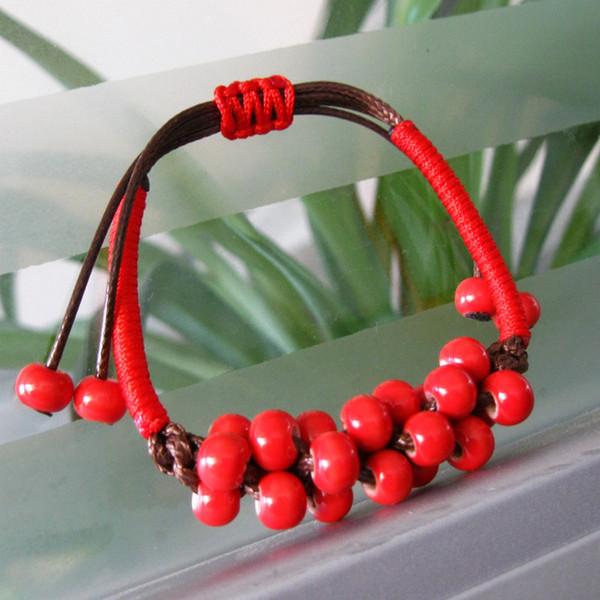 2017 Original vintage Ceramics Small beads Girls Bracelet Good Lucky Bracelet cute Lover Bracelet Lovers Lucky Jewelry Women Christmas Gift