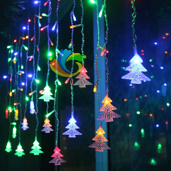 Wholesale Christmas Tree Shaped String Fairy Light 96 Led Euu0026Us Plug  Chrismas Led Light Lighting