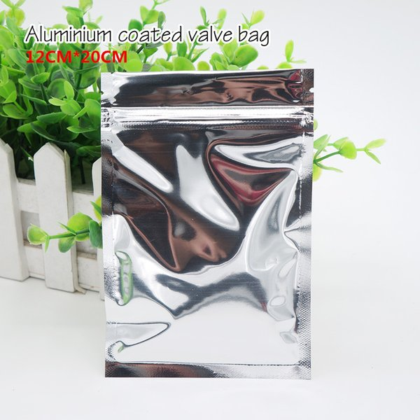 12*20cm Opaque aluminium ziplock bag Aluminum foil plastic pouch Food storage packaging Sealed bags Spot 100/ package