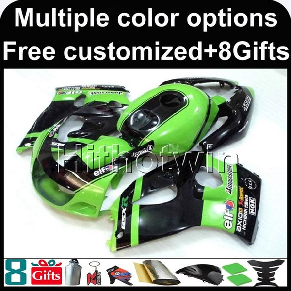 23colors+8Gifts GREEN motorcycle cowl for Suzuki GSX-R600750 1996-2000 96 00 GSXR 750 1996 1997 1998 1999 2000 600 96-00 ABS Plastic Fairing