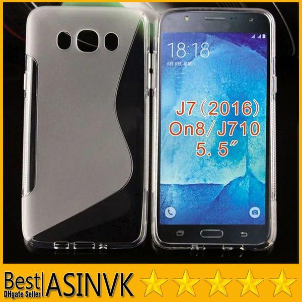74bf81d6339 Para Samsung Galaxy J7 (2016) Funda TPU S Line Diseño TPU Slim Thin Flexible