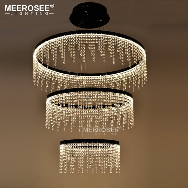 New Design LED Ring Chandelier Light Crystal Lamp LED Hanging Drop Lamp For Dining Room LED lamparas Crystal Lighting For Home
