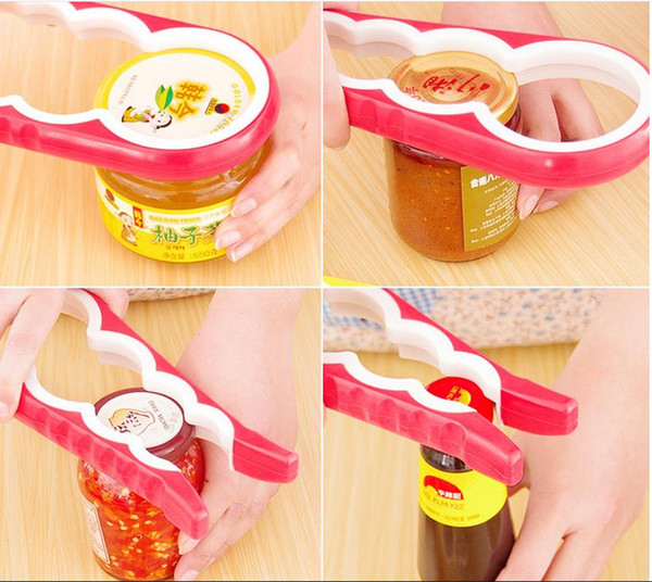4 In 1 Gourd-shaped Can Opener Multi Purpose Screw Cap Jar Openers Bottle Lid Grip Wrench Kitchen Accessories DHL Free Shipping