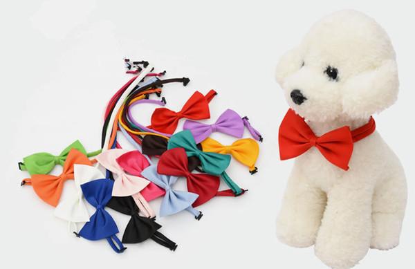 Hunde-Fliege-Süßigkeit färbt nette Hundewelpen-Katzen-Haustier-Spielzeug-Kind-Fliege-Hals-Bindung Kleidungdekoration freies Verschiffen