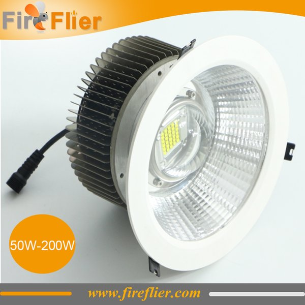 Livraison Gratuite 6pcs 50w 80w 100w Led down 150w station lampe intégrée 200w industrielle construit dans le luminaire 120w bureau led lumière