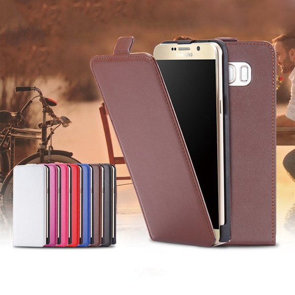 New Arrival Up and Down Leather Case Vertical Flip Cell Phone Cover Cases For Samsung Galaxy s7 edge