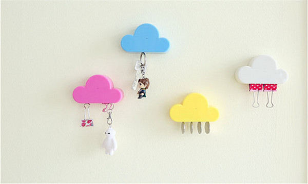 New Qualified Creative Novelty Home Storage Holder White Cloud Shape Magnetic Magnets Key Holder