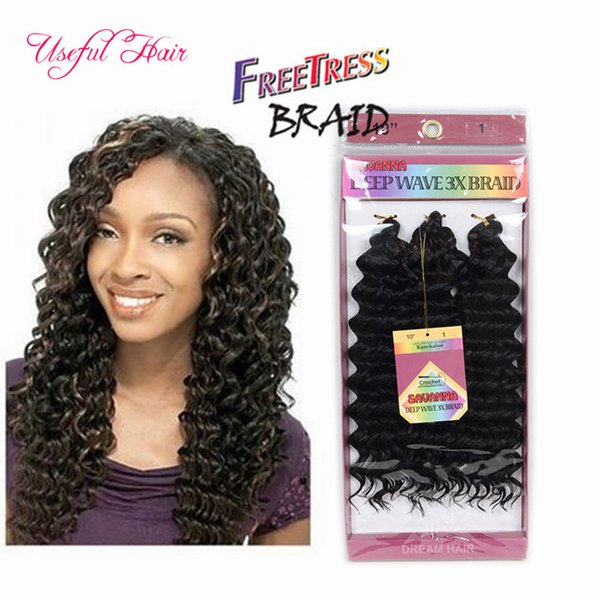 SAVANA MAMBO TWIST OMBRE CROCHET HAIR EXTENSIONS CHRISTMSA braid in bundles 10INCH DEEP WAVE 3pc/pack jumpy Bouncy Curl crochet braids hair