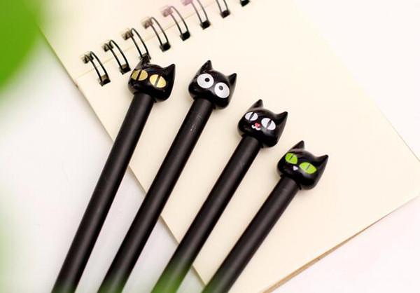best selling DHL cute cartoon shaped animal cat style gel-ink pen kawaii office stationery for students school supplies gel pen in stock