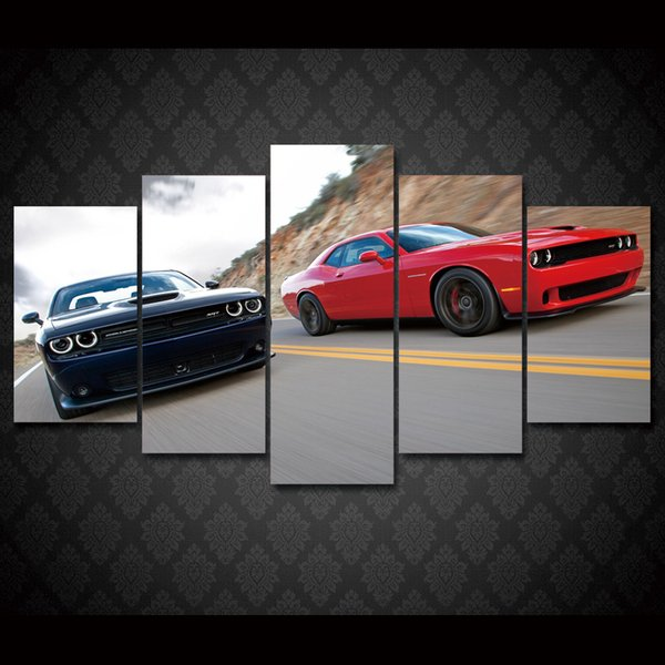 5 Pcs/Set Framed HD Printed Sports car Painting wall art Canvas Print room decor print poster picture canvas Free shipping/ny-1190