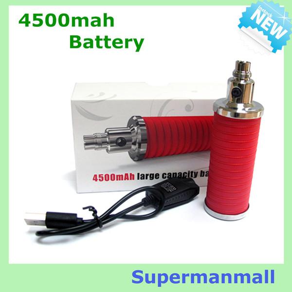 Wholesale- 5pcs big capacity 4500mah E Cigarette battery Variable Voltage 3.2V-4.2V E Cigarette vape ego electronic Cigarette Battery