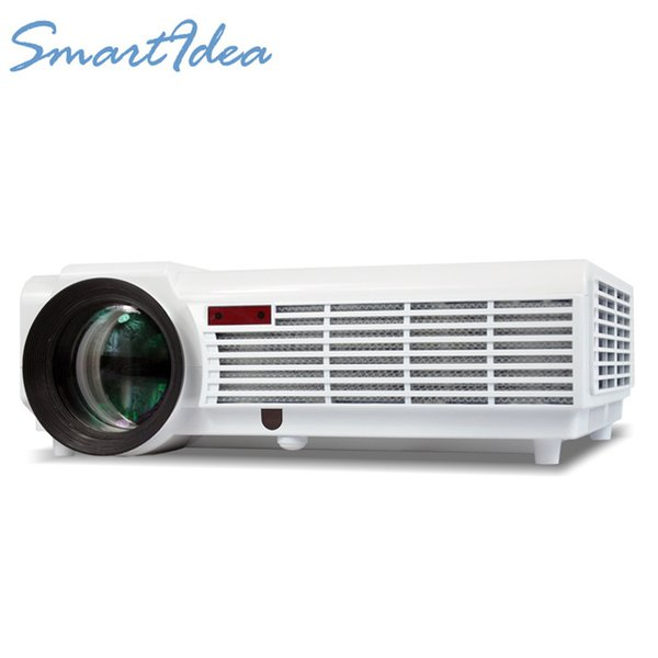 Wholesale-LED86 Update into LED96 5500lumens Video HDMI USB TV 1280x800 Full HD 1080P Home Theater 3D LED Projector Proyector Beamer