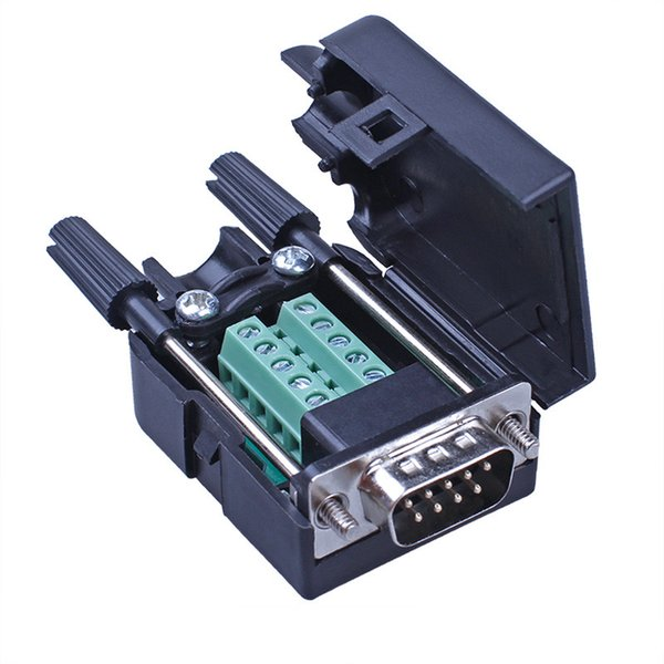 Serial Head DB9 Solderless Head Plug 9-pin Adapter Terminals RS232 Connector COM Port Male And Female Head