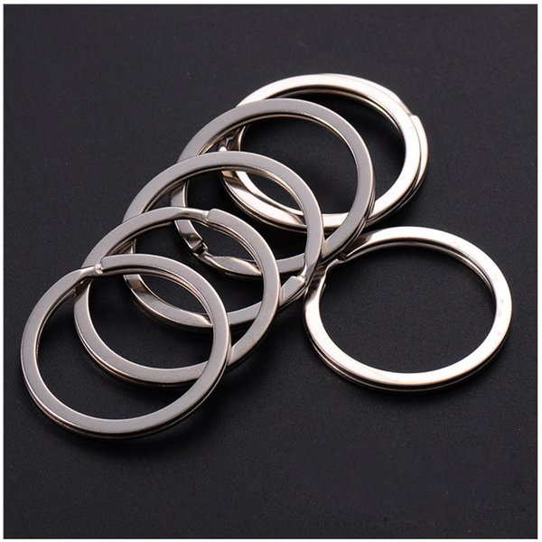 top popular 35mm DIY Key Rings 304 Stainless Steel Keyrings for Jewelry DIY accessories 1000pcs Silver Bands for Sale 2019
