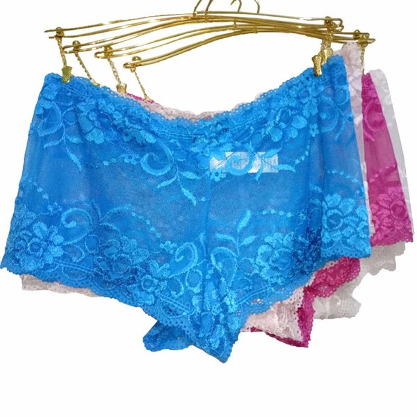 Wholesale- free shipping 5 colors Underwear Women Cotton Panties Sexy Lace Lingerie Hollow Briefs Seamless Intimates Underpants Plus Size