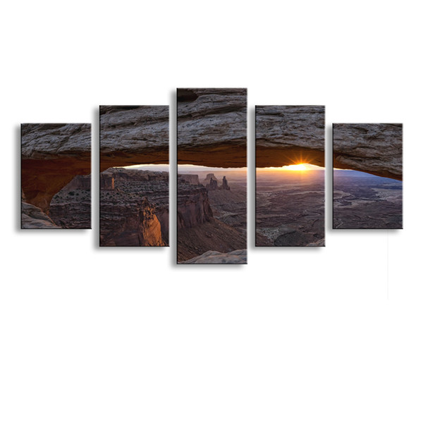 5 pieces high-definition print landscape canvas oil painting poster and wall art living room picture PL5-139