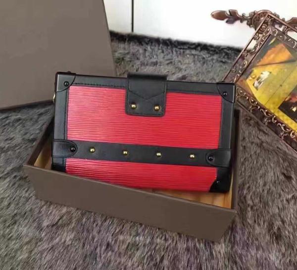 Freies verschiffen! Heißer Verkauf Großhandel Designer Box Ursprüngliche Handtaschen Abendtaschen Leder Mode Box Clutch Brick Messenger Schultertasche