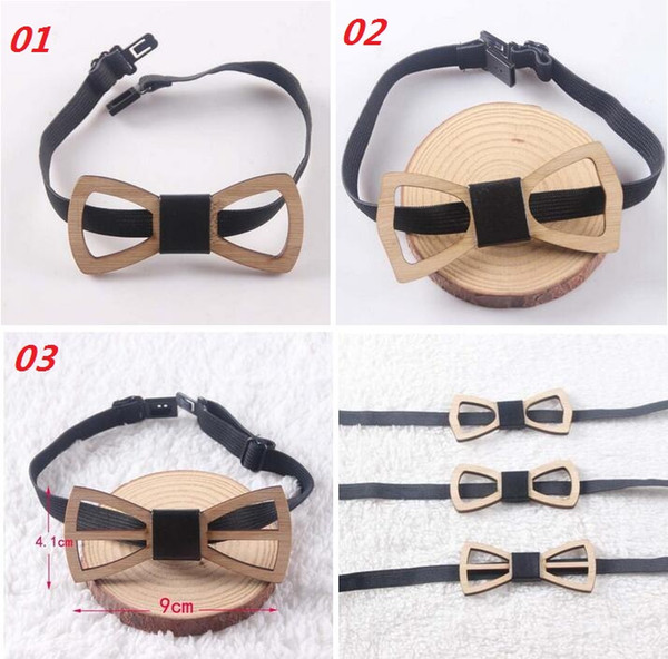 best selling Fashion Vintage Bamboo Wood Bow Ties Hollow Out Bowknot For Gentleman Wedding Wooden Bowtie Free Shipping