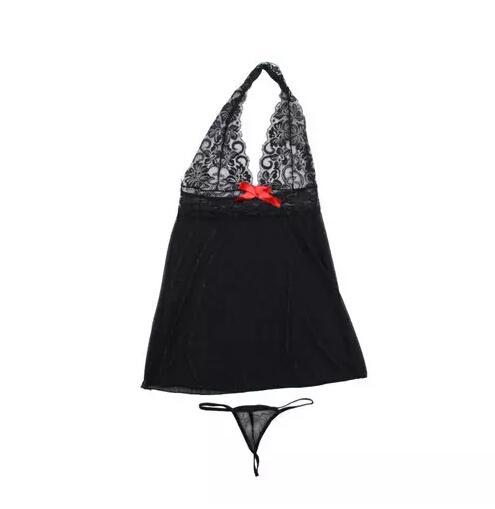 Mulheres Sexy Lingerie Espartilho Com G-string 2 Peça Set Vestido Cueca Sleepwear Plus Size M-XXL Tamanho Frete Grátis