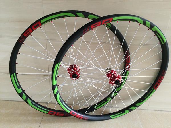 Updated 29ER Carbon MTB Wheels 32/32holes UD Matte Tubeless 27.5er ready Boost mounatin 650B bike wheel