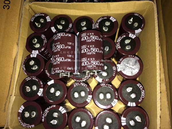 Toptan-2015 satış 2 ADET CHEMI-CON 560 uf 400 v KMR 30x45 MM Alüminyum Elektrolitik Kondansatör kiti freeshipping yeni gerçek NIPPON NCC 400v560uf