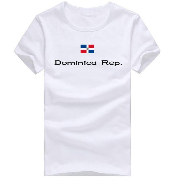 Dominica Rep T shirt Outdoor sport short sleeve Bright emblem tees Nation flag clothing Unisex cotton Tshirt