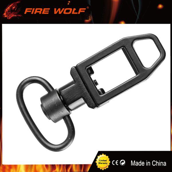 FEU WOLF 20mm Rail Tactique Fusil Sling Loop Ambush Low Profile Avec QD Sling Point De Pivot Noir M4 / AR15