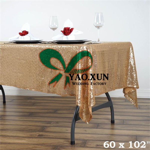 Rectangular Sequin Table Cloth \ Cheap Wedding Tablecloth Free Shipping