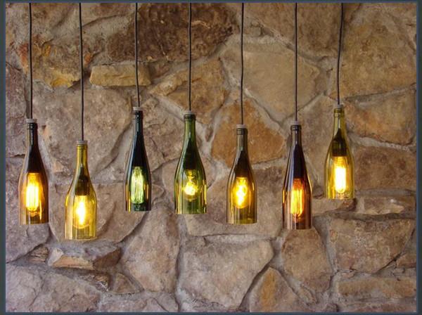Großhandel Landhausstil Loft Antike Industrielle Hängelampe Vintage Flasche  Pendelleuchten Kreative Multicolor Restaurant Hängelampe Verlichting Von ...