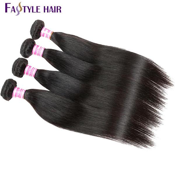 Cheap Fastyle Indian Straight Hair Weave Extension Unprocessed Brazilian Peruvian Malaysian Mink Virgin Human Hair Bundles Super Quality