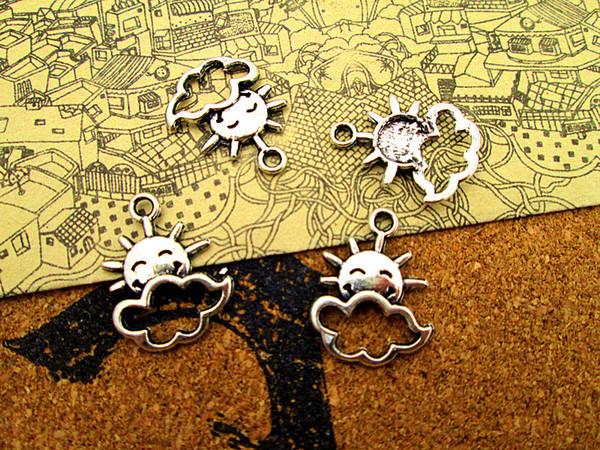 75pcs-- Sun with Cloud Charms Antique Tibetan silver Sun with Cloud Charms pendants ,DIY Supplies 16x21mm