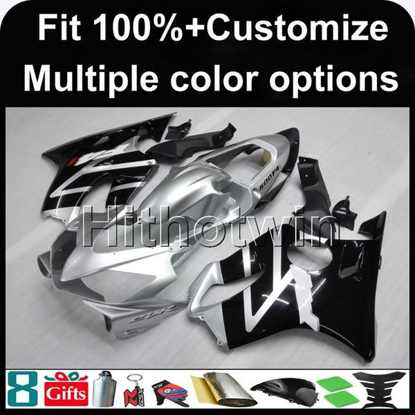todo blanco CBR600F4i 01-03 2001 2002 2003 carenado ABS blanco 2001-2003 01 02 03 Kit carenado para Honda CBR600 CBR 600 F4i MOLDE DE INYECCIÓN