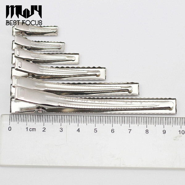 Pinzas de cocodrilo de una sola punta MLJY con dientes Pinzas para el cabello boutique Pinzas para el cabello para el arco del pelo de DIY / pinzas para el arco 60pcs / lot AL POR MAYOR