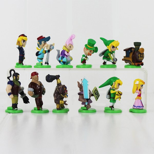 12pcs/lot The Legend of Zelda Furuta Choco Egg PVC figures Collection Toys Model Dolls Kids Gifts 3.5-5.6cm