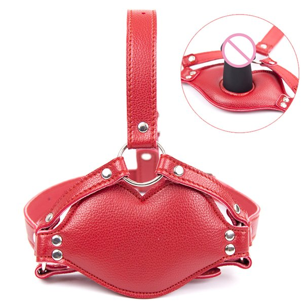 Snazzy Big Red Lip Harness Mouth Soft Silicone Gag ,Adult Game Fetish Bondage Strapon Dildo Penis Gag Sex Toys for Couples Games