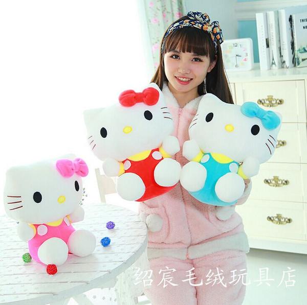 Wholesale-20cm Mini-Hallo Kitty-Plüsch spielt Puppen Kawaii angefüllte Karikatur-Spielzeug-Puppe-Mädchen scherzt Spielzeug
