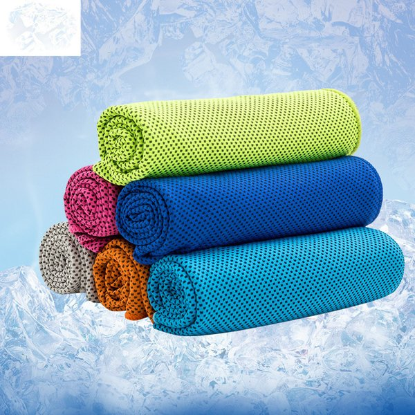 top popular Cold Towel Summer Sports Ice Cool Towel PVA Hypothermia Cooling Sports Towel Wholesale 2019