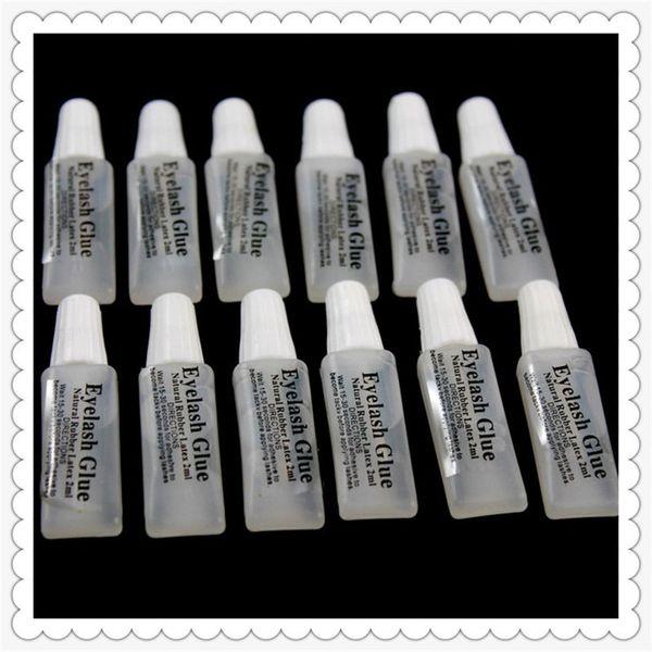 H-Beauté Faux cils colle 2ml en plastique tube plat voyage portable pas de stimulation de petite colle Lady Maquillage Outil gros