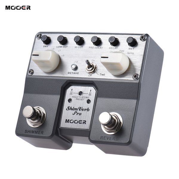 MOOER ShimVerb Pro Digital Reverb Guitar Effect Pedal with Shimmer Effect 5 Reverberation Modes Twin Footswitch mini guitar pedals