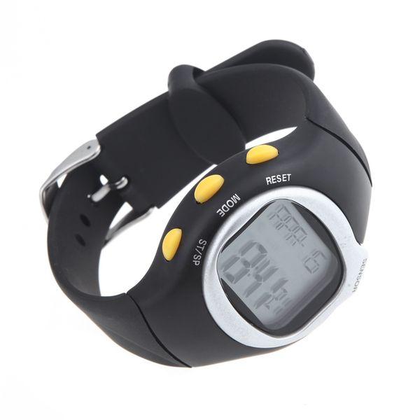 Envío gratis Square Men Women Watches Dial Calorie Counter Pulse, Monitor de Ritmo Cardíaco Deporte Ejercicio Reloj negro Relojes de Pulsera H10512