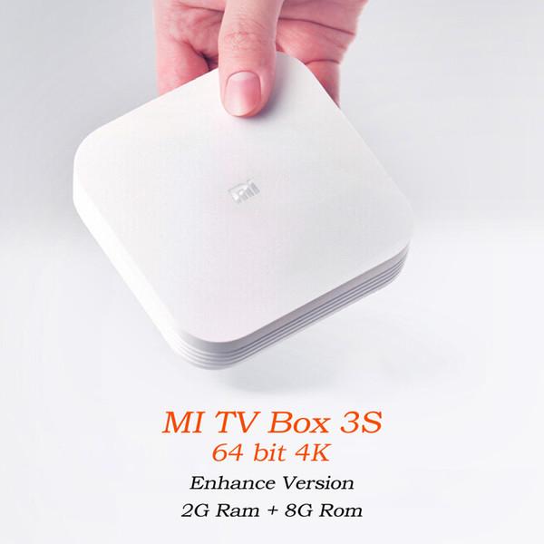 Wholesale- 2016 Original Xiaomi Mi HDD Media Player Android MiBox 3 Pro 3S Smart TV Box 4K HD Miorring 2.4G 5G Wi-Fi Wireless DLNA Motion