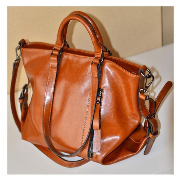 High Quality New Fashion PU Leather Bags Tote Women Leather Handbags Messenger Bags Hot Vintage Shoulder Bags Popular Motorcycle Bag