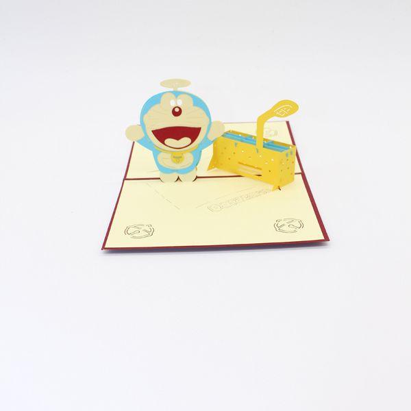 Compre 10 Unidades Lote Venta Caliente De Dibujos Animados Doraemon Con Time Machine Tarjeta De Invitación Fiesta De Cumpleaños Tarjeta De